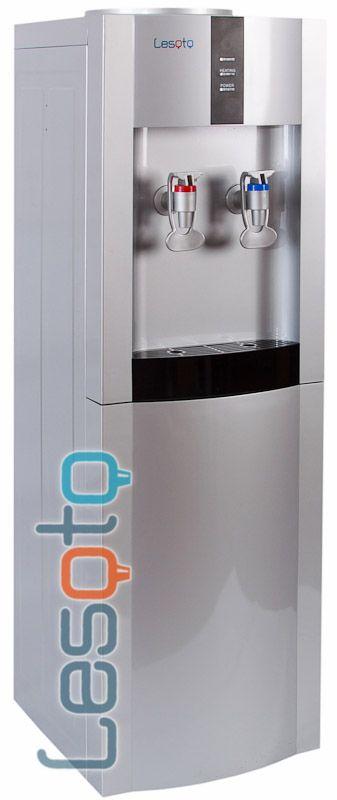 Кулер для воды Lesoto 16 L-K серебристый с черной вставкой